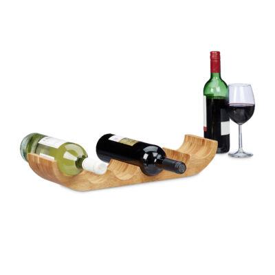 Bambusz bortartó asztali kivitel 4 palack bornak
