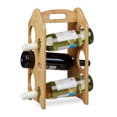 Soran asztai bortartó állvány 6 üveg bornak