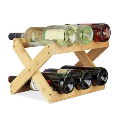 x alakú kisméretű asztali bortartó