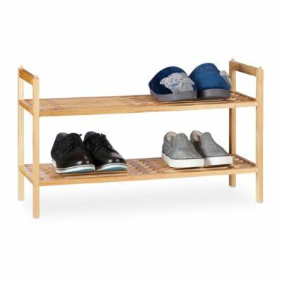 két szintes diófából készült cipőtároló