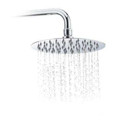 20 cm átmérőjű kör alakú esőztető zuhanyfej nemesacél
