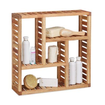 Diófa fali polc fürdőszobába vagy pedig konyhába