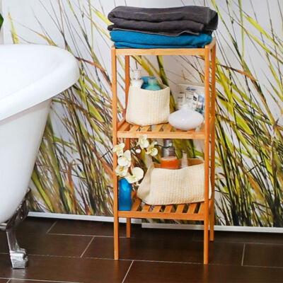 Irén 3 Polcos Bambusz Fürdőszoba Polc