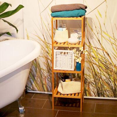 Irén 4 Polcos Bambusz Fürdőszoba Polc