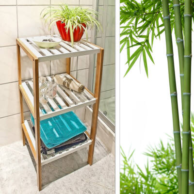 Nicol 3 Polcos Bambusz Fürdőszoba Polc
