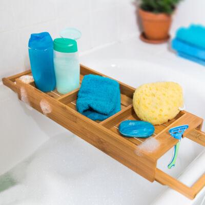 azim fürdőkádra helyezhető tálca bambuszból