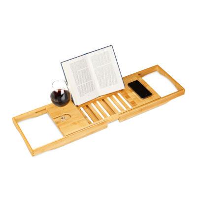 Bardó luxus fürdőkád tálca bor és könyvtartóval