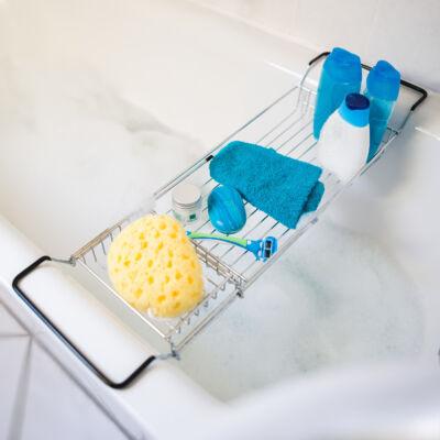 Harri fém fürdőkád tálca