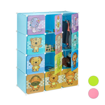 Kék színű variálható gyermek szekrény
