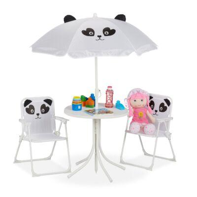 gyerek kerti szett asztal napernyővel és székekkel