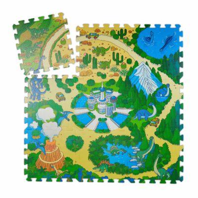 Dinoszaurusz mintás Habszivacs Puzzle Szőnyeg Gyerekeknek