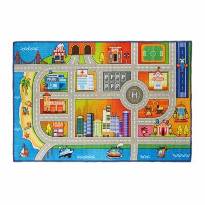 Város mintás II. Gyerekszoba Szőnyeg 150 x 100 cm