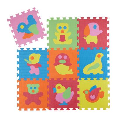 Állatmintás Habszivacs Puzzle Szőnyeg Gyerekeknek