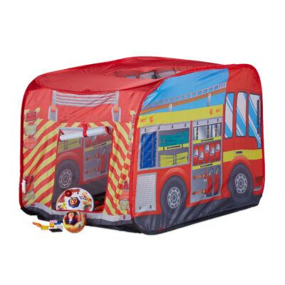 Tűzoltóautó Mintás Gyerek Játszósátor