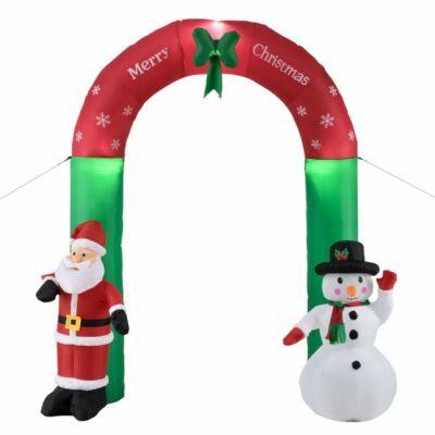 Merry Christmas Felfújható, LED-es Világító Kapu 240 CM
