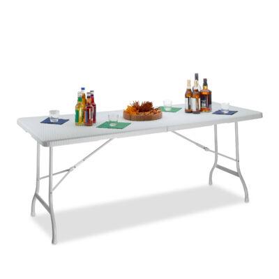 BASTIAN Rattan Hatású Kerti Asztal