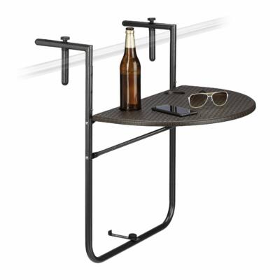 BASTIAN Balkonra Akasztható Rattan Hatású Asztal