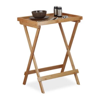 HANAN Bambusz Összecsukható Asztal