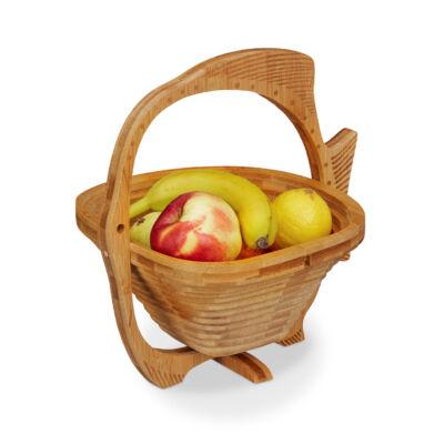 Halacska alakú asztali gyümölcskosár