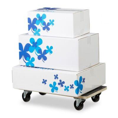 Fékezhető gurulós bútorszállító és nehéz termékek szállítására alkalmas kocsi