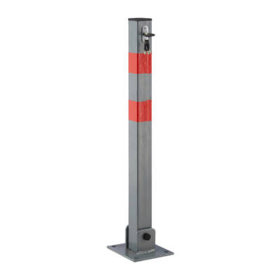 parkolásgátló oszlop két irányba dönthető zárható fényvisszaverővel
