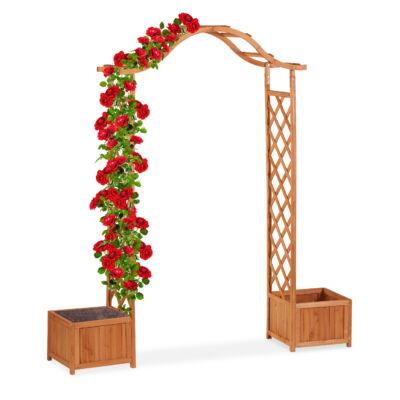 Fa Rózsafuttató Keret, Virágládával