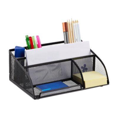 Fahi fekete fém íróasztali rendszerező tollaknak és kisebb papíroknak