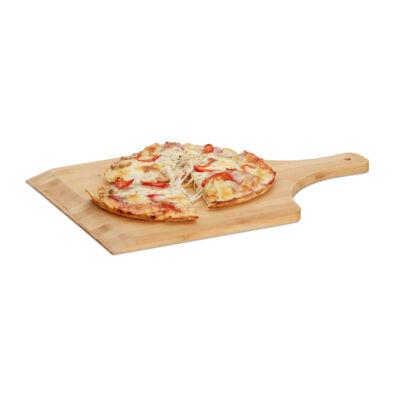 Bambusz pizzalapát négyzet alakú fejjel és rövid karral