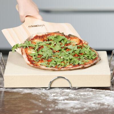 Extra vastag Pizzakő és pizzalapát szettben