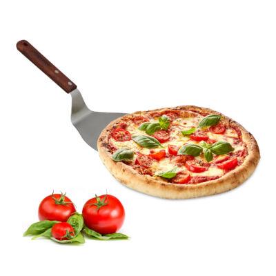Kis méretű pizzalapát keményfa nyéllel és acél lapáttal
