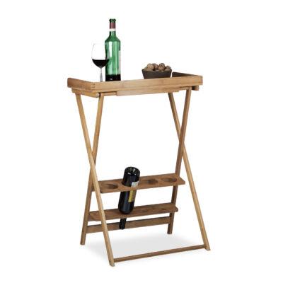 wein összecsukható bambusz asztal bor és pohártartó