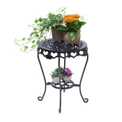 fatma öntöttvas virágtartó állvány és asztal egyben