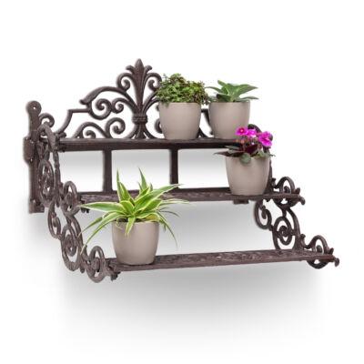 Cast öntöttvas szögletes fali virágtartó polc