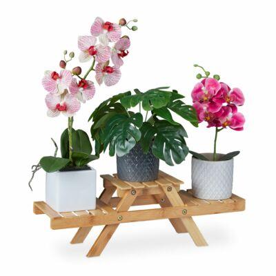JAKA Bambusz Virágtartó Állvány