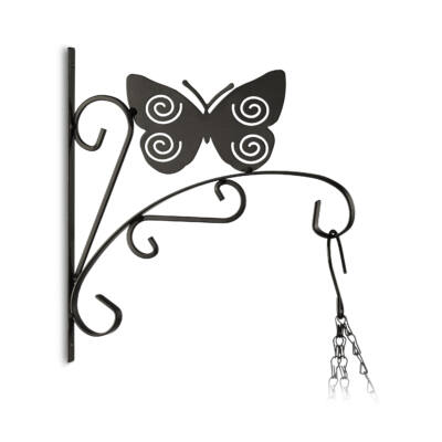 Pillangó formájú fémből készült fali virágtartó és akasztó