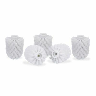 Fehér színű belső menetes Wc kefére való pótfejből 5 darab